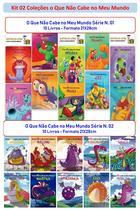 Kit 02 Coleções O Que Não Cabe no Meu Mundo Série 01 e 02 C/ 20 Livros - Bom Bom Books