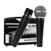 Kit 02 Microfones Profissionais Waldman Stage S-2PM -