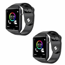 Kit 02 Relógio A1 Original Touch Bluetooth Gear Chip -  Smartwatch - Smart watch