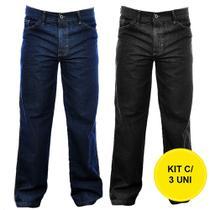 Kit 03 Calça Jeans Kaeru Masculina Atacado -