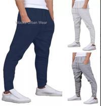 Kit 03 calças de moletom skinny slim - Wooks
