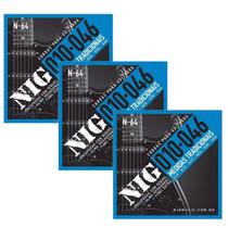 Kit 03 Encordoamento Para Guitarra 010 Nig N-64 -