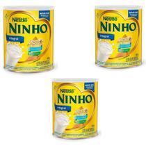 Kit 03 Latas Leite Em Pó Integral Ninho Forti + 400g - Nestlé