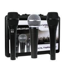 Kit 03 Microfones Vocais Profissionais Waldman Stage S-VOC-3PM -