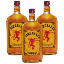 Kit 03 Unidades Licor de Whisky Fireball 750ml -