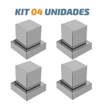 """Kit 04 Acabamento De Registro Quadrado Abs 1/2"""" Ou 3/4"""" - Tik de Casa"""