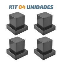 Kit 04 Acabamento Quadrado Preto Registro Pressão Deca - Tik de Casa