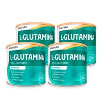 Kit 04 Aminoácido L-Glutamina 300g 100% Pura Loja Maxinutri -