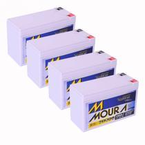 Kit 04 Baterias Gel Selada 12V 7ah - Moura No-break -