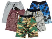 kit 04 Bermudas Moletom infantil e Juvenil - cores variadas - Base D'Água-Surf Wear