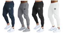 Kit 04 calças de moletom masculina slim sport academia wooks -