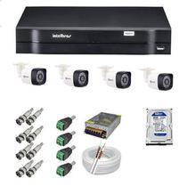 Kit 04 Câmera de Segurança hd + DVR 4 Canais Intelbras MHDX 1104 -