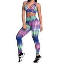 Kit 04 Conjuntos Fitness Feminino Roupas De Academia Queimão - Lshape Moda Fitness