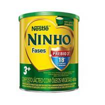 Kit 04 Latas Leite Ninho Fases 3 + Composto Lácteo 400G - Nestlé