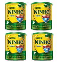 Kit 04 Latas Leite Ninho Fases 3+ Composto Lácteo 400g - Nestlé