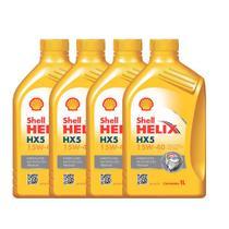 Kit 04 Litros Óleo Lubrificante Mineral Premium 15W40 Shell Helix HX5 -