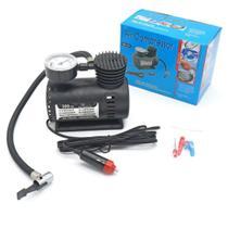 Kit 04 Mini Compressor Calibrador De Ar 3 Adaptadores 12vts - Air Compressor