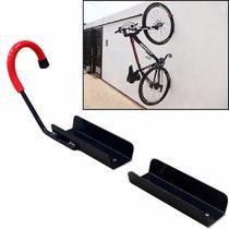 Kit 04 Suportes Gancho para Pendurar Bicicleta na Parede - Genus Móveis