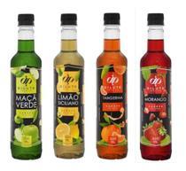 Kit 04 XAROPE DILUTE PREMIUM SODA ITALIANA 500 ml - Limão Siciliano  Maçã Verde Tangerina  Morango -
