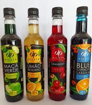 Kit 04 xarope dilute premium - soda italiana - maça verde limão siciliano crawnberry blue curaçao -
