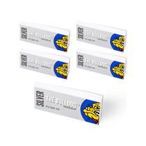 Kit 05 Filtros Slim Tips Silver The Bulldog - SM00102 -