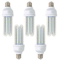 Kit 05 pecas - lampada led 3u 9w bivolt branco frio 6500k - Powerxl