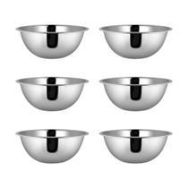 Kit 06 Bowl em Aço Inoxidável Tigela 26 x 9 cm Capacidade de 2700 ml Cozinha Preparação Mesa - Yazi