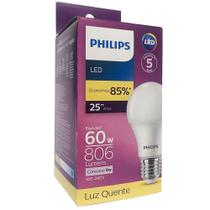 Kit 06 Lâmpadas Led Philips Luz Amarela 806lm - A Melhor -