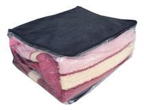 Kit 06 Saco Organizador Closet Edredon Cobertor C/ Ziper M - Up Atacado
