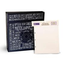 Kit 1 Álbum Autocolante Photograph+  Refil Ical -