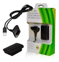 Kit 1 Bateria Para Controle Xbox 360 C/ Cabo Carregador 1.4m - Store 7