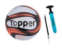 Kit 1 Bola de Futsal Topper Dominator + 1 Bomba Topper -