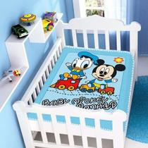 Kit 1 Cobertor Bebê Disney Mickey + 1 Manta Disney Mickey- Jolitex -