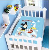 Kit 1 Cobertor Bebê Disney Mickey + 1 Manta Disney Mickey- Original - Jolitex