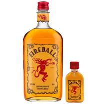 Kit 1 FireBall 750ml + 1 Miniatura FireBall 50ml -