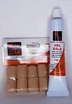Kit 1 gel cola de 30gr 1 PC de nano pele para mega hair fita adesiva - Ele E Ela Cosméticas