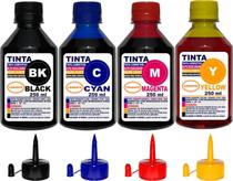 Kit 1 Litro Tinta ( 4 x 250 ml ) Compatível Epson L120 L220 L210 L380 - Authentic