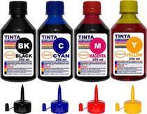 Kit 1 Litro Tinta ( 4 x 250 ml ) Compatível Epson L380 L355 L365 L375 - Authentic