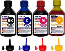 Kit 1 Litro Tinta ( 4 x 250 ml ) Compatível Epson L395 L396 L495 L475 - Authentic