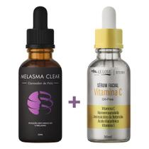Kit 1 Melasma Clear e 1 Vitamina C Original  Super Premium - Mega Beleza