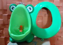Kit 1 Mictório Sapinho Verde Mic Baby + 1 Redutor de Assento Infantil Still Baby -