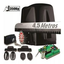 Kit 1 Motor Rossi Dz Atto Turbo 4,5m Crem 2 Control  P/ Portão Deslizante 350kg 220v -