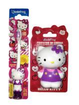 kit 1 Porta Escova e 1 Escova Hello Kitty com ventosa - Jadefrog
