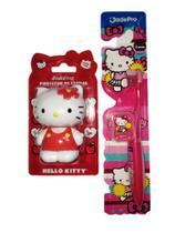 kit 1 Porta Escova e 1 Escova Hello Kitty - Jadefrog