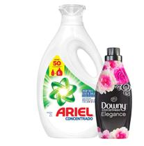 Kit 1 Sabão Liquido Ariel 50 Lavagens 2L + Amaciante Downy 4X 500ml -