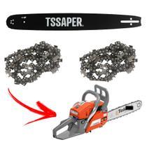 Kit 1 Sabre 16 + 2 Corrente Motosserra Tekna Cs55 32 Dentes 64 elos 45cm 0,325 x 0,058 kit Tssaper -