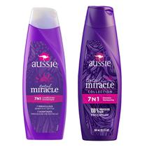 Kit 1 Shampoo Aussie 7 em 1 Total Miracle 360ml + 1 Condicionador Aussie 7 em 1 Total Miracle 360ml -