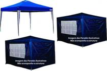 Kit 1 Tenda Gazebo Sanfonada X-Flex + 2 Kit 2 Paredes para Tenda Gazebo MOR