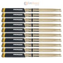 Kit 10 Baquetas Pro Mark OAK 7A MAD PW7AW Carvalho -