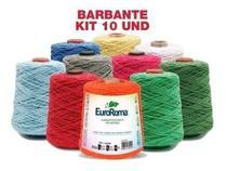 Kit 10 Barbantes Euroroma  600g Cores Variadas -